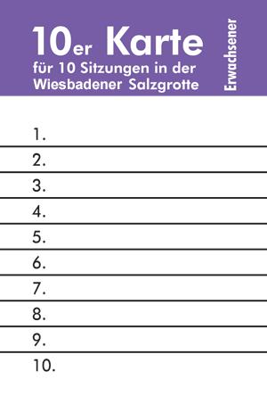 Wiesbadener Salzgrotte eine 10er Eintrittskarte für Erwachsene