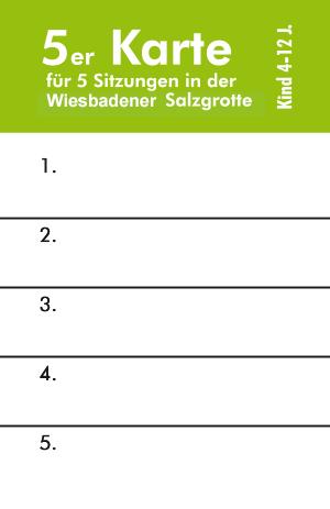 Wiesbadener Salzgrotte eine 5er Eintrittskarte für Kinder