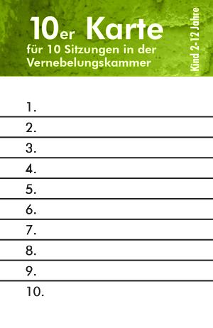 Wiesbadener Salzgrotte eine 10er Eintrittskarte für Kinder Vernebelungskammer